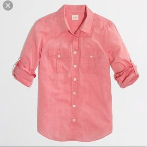 J Crew Cotton voile camp shirt in perfect fit